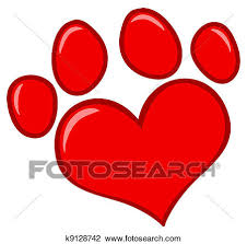 red dog paw clipart. Plain Paw Red Heart Shaped Dog Paw Print Intended Clipart I