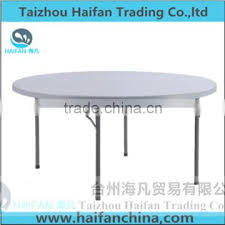 high quality hdpe 5ft white upscale round garden table outdoor furniture stainless steel bracket garden