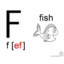 Disegno Di Lettera F Alfabeto Inglese Da Colorare Per Bambini