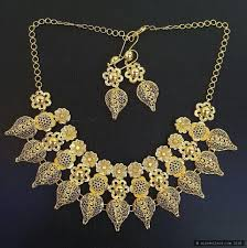 22ct indian gold necklace set 1
