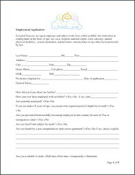 Daycare Form Best Daycare Application Form Template Free Registration Tangledbeard