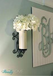 flower wall sconce sconces silk creative vase metal