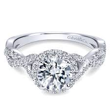 gabriel co engagement rings white gold contemporary halo
