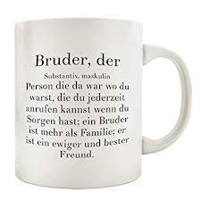 Interluxe Kaffeebecher Tasse Bruder Der Spruch Geburtstag Geschenk