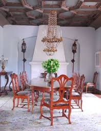 madeline stuart interiors santa monica el sueno the dining room ceiling is painted plaster the wall mounted lanterns are venetian and the magnificent