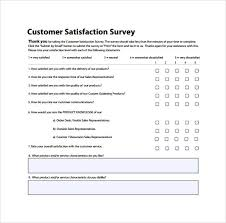 Surveys Questionnaires Examples Customer Satisfaction Survey To Print Customer