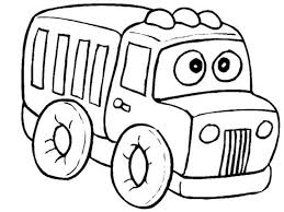 Coloring Pages For Little Kids Trucks