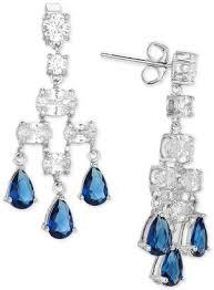 giani bernini cubic zirconia chandelier earrings in sterling silver