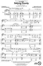 defying gravity sheet music defying gravity from wicked chorus pinterest defying gravity