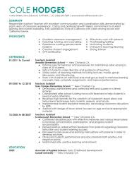 Early Childhood Education Resume Template 24 Amazing Education Resume Examples Livecareer Resume Template For 14