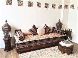 luxurious moroccan sofa bench daybed 3 seater couch majlis moroccan decor arabian sofa