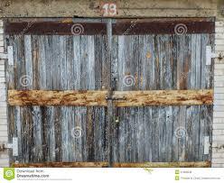 an old wooden garage door