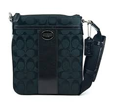 Coach Legacy Signature Swingpack Crossbody Bag Black 48452
