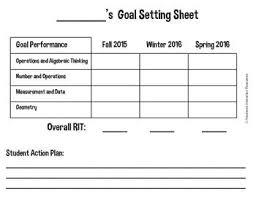 Nwea Student Goal Setting Sheet Goal Setting For Students