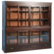 antique bookcase sweet idea antique cabinets with glass doors bookcase or antique barrister bookcase with desk