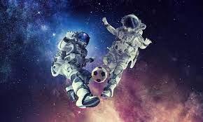 Juego De Fútbol Del Juego Del Astronauta Stock de ilustración - Ilustración  de bola, noche: 103541756