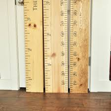 Ruler Growth Chart Kit Diy Project Oversized Wood Ruler Growth Chart Kit