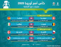 """E P L W O R L D Twitterren: """"كأس أمم أوروبا 2020 - مباريات دور الثمانية… """""""