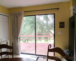 Window Treatment Kitchen Curtain Ideas For Slider Doors Kitchen Sliding Door Window