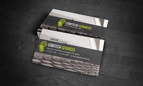 Free Business Card Templates Computer Internet Vast Service Visiting