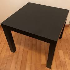 ikea lack side table black brown 55x55x45 cm furniture tables chairs on carou