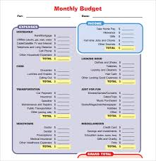 How To Make A Monthly Budget On Excel Monthly Budget Template Word