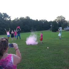 gender reveal powder baseball girl diy