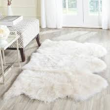 white shag rug. Safavieh Boho Sheepskin Wool White Shag Rug. Previous Rug