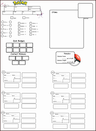 pokemon tabletop character sheet character sheet template exltemplates
