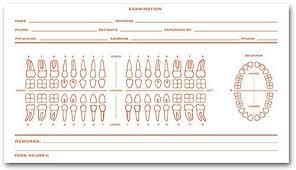 Dental Charting Symbols List Amazon Com Dental Exam Card File Record Numbered Teeth