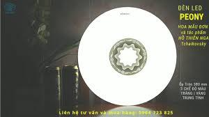 Đèn trang trí Hoa Mẫu Đơn - Đèn Led Ốp trần Peony 24W 3 chế độ - Đèn Led  Sài Gòn, Tiền Giang Long An - YouTube