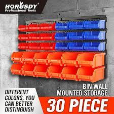 wall mounted storage bins parts rack 30