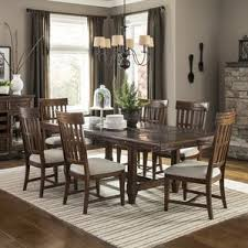 arlington round sienna pedestal dining room table w chestnut finish. wolf creek extendable dining table arlington round sienna pedestal room w chestnut finish