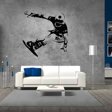 boys sport skating on snowboard wall stickers for boys teens room skater wall decals interior decorating