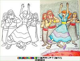 coloring book corruption volcano