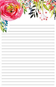 Printable Design Paper Free Printable Floral Stationery Paper Trail Design