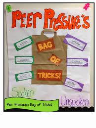 Peer Pressure Bag Of Tricks Lessons Tes Teach