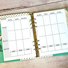 Horizontal Weekly Planner Template Free Planner Printables Including Vertical Weekly Double Pages