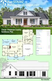 Planit Kitchen Design Plan 51761hz Classic 3 Bed Country Farmhouse Plan Classic