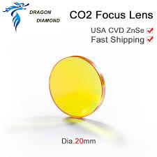 CO2 Laser <b>USA</b> CVD <b>Focus Lens ZnSe</b> Dia 20mm FL 38.1mm 50.8 ...