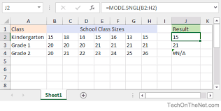 Excel Spreadsheet Examples Download Ms Excel How To Use The Mode Sngl Function Ws