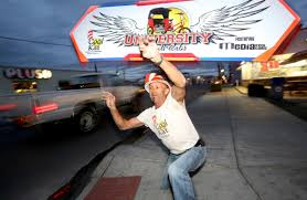 sign twirler tucson sign spinner codie norman a fixture on many street