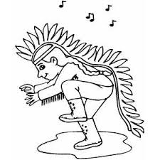 Small Picture Dancing Native American Coloring Page