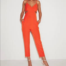 New Express Side Cut Out Jumpsuit Nwt