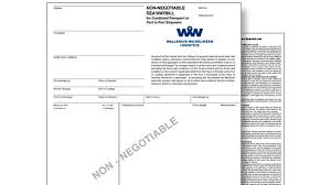 What Is A Sea Waybill Wallenius Wilhelmsen