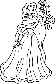 Small Picture Coloring Pages Kids Free Disney Princess Belle Coloring Pages