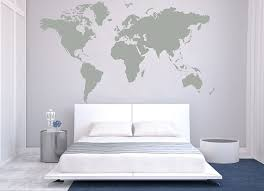 designyours removable vinyl wall sticker large world map wall decal for living room study room l and stick world map wall murals wall decor