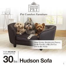 enchanted home pet hudson diamond grey pet sofa free