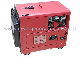 diesel power 5000w 5kw small portable electric generator silent type 186fae engine small diesel 082 generator