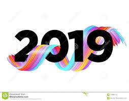 2019 Happy New Year Logo Design. Vector Background. Stock Vector ...